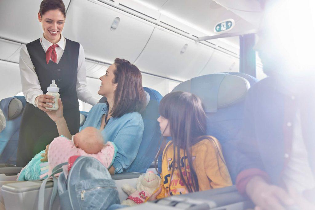 機内で過ごすイメージ