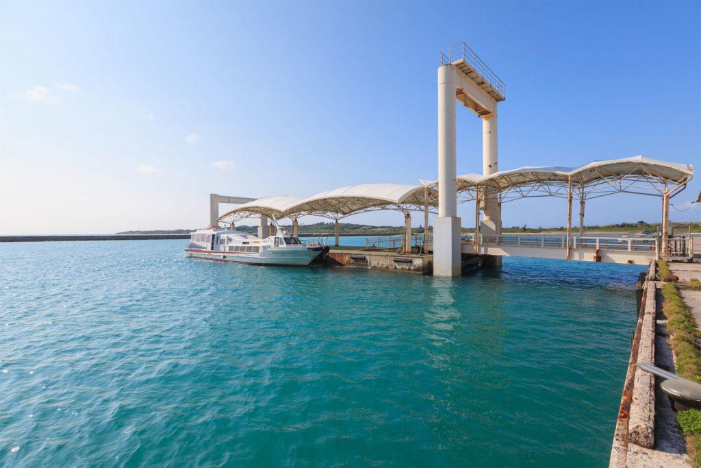 小浜島の桟橋イメージ