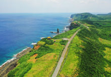 与那国島の空撮イメージ写真